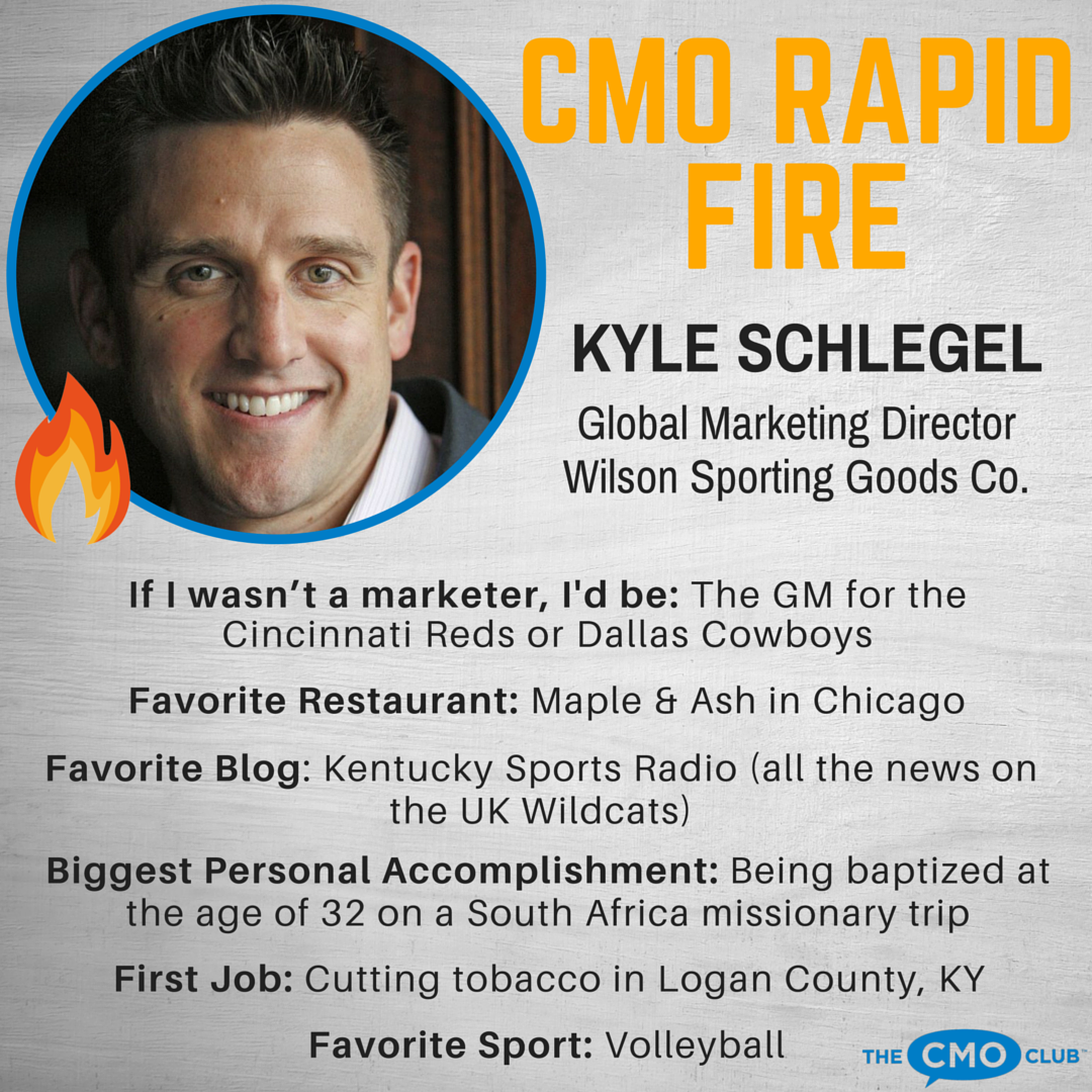 CMO RAPID FIRE, Kyle Schlegel