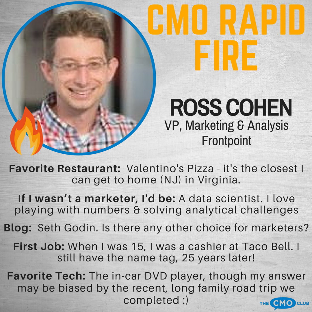 CMO RAPID FIRE, Ross Chohen Insta