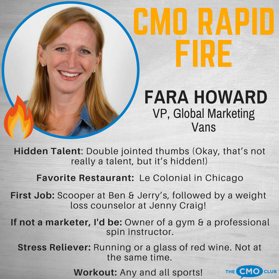 CMO RAPID FIRE, Fara Howard, Vans