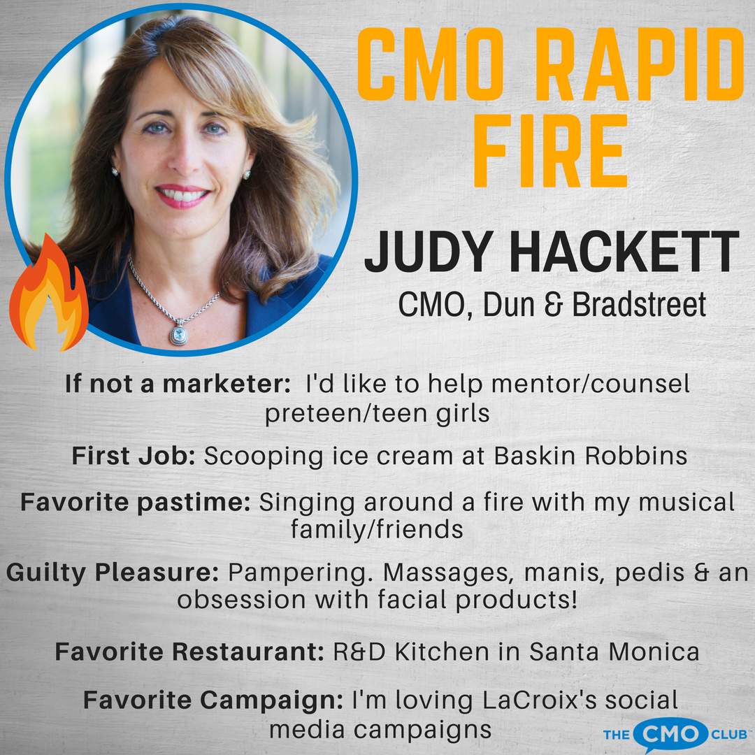 The CMO Club CMO RAPID FIRE, JUDY HACKETT1
