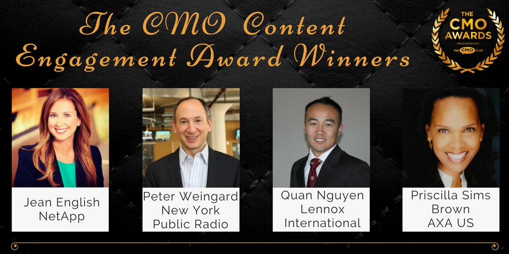 Content Engagement Winners - 2017 CMO Awards Winners