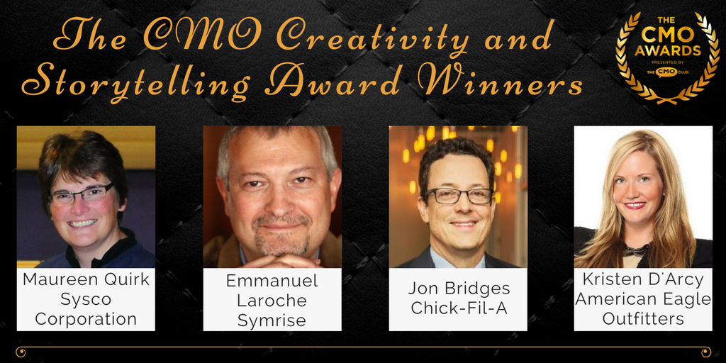 Creativity and Storytelling Winners - 2017 CMO Awards