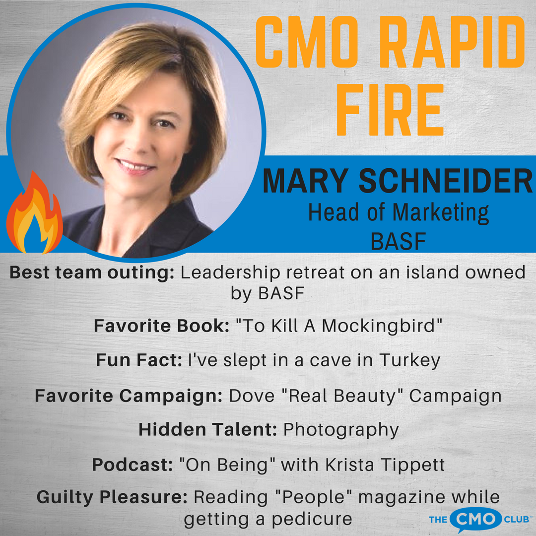 CMO RAPID FIRE, Mary Schneider