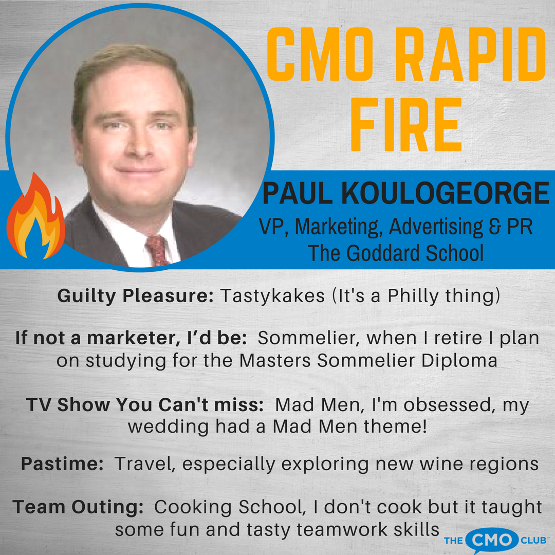 CMO RAPID FIRE, Paul Koulogeorge