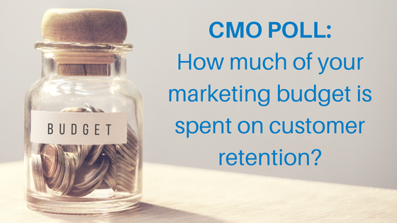 CMO POLL_marketing budget spent on customer retention?