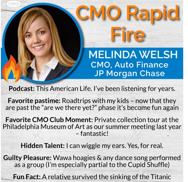 CMO Rapid Fire-MELINDA WELSH