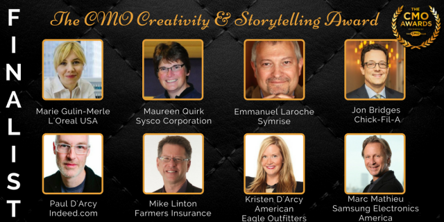 Creativity and Storytelling Award - 2017 CMO Awards Finalists