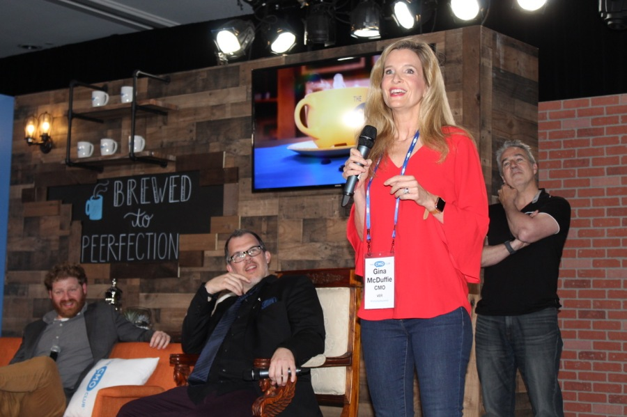 """Gina McDuffie winning the """"Funniest CMO in the World"""" comedy contest!"""