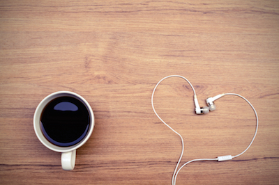 Coffee and headphone