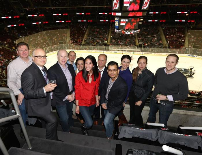 New Jersey CMO Club Chapter at recent NJ Devils game