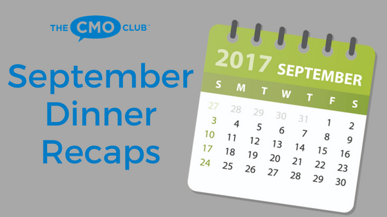 The CMO Club September 2017 Dinners