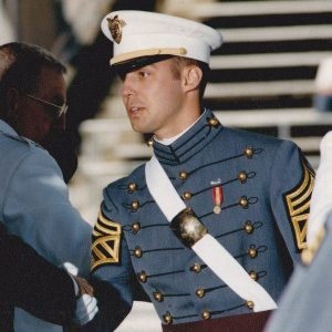 Casey at his West Point graduation ceremony